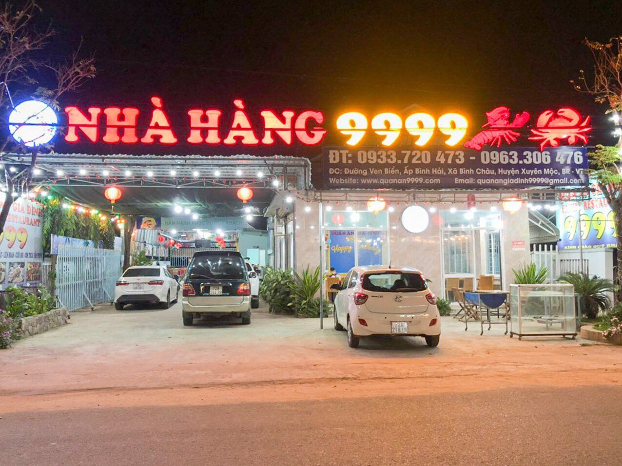 quán ăn hải sản 9999