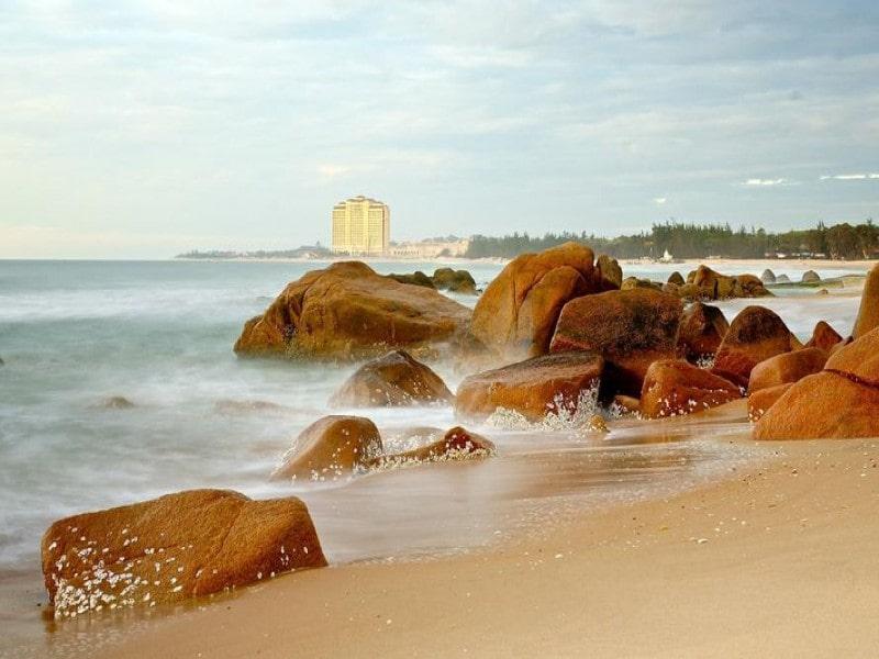 cảnh đẹp ghềnh đá Bình Châu