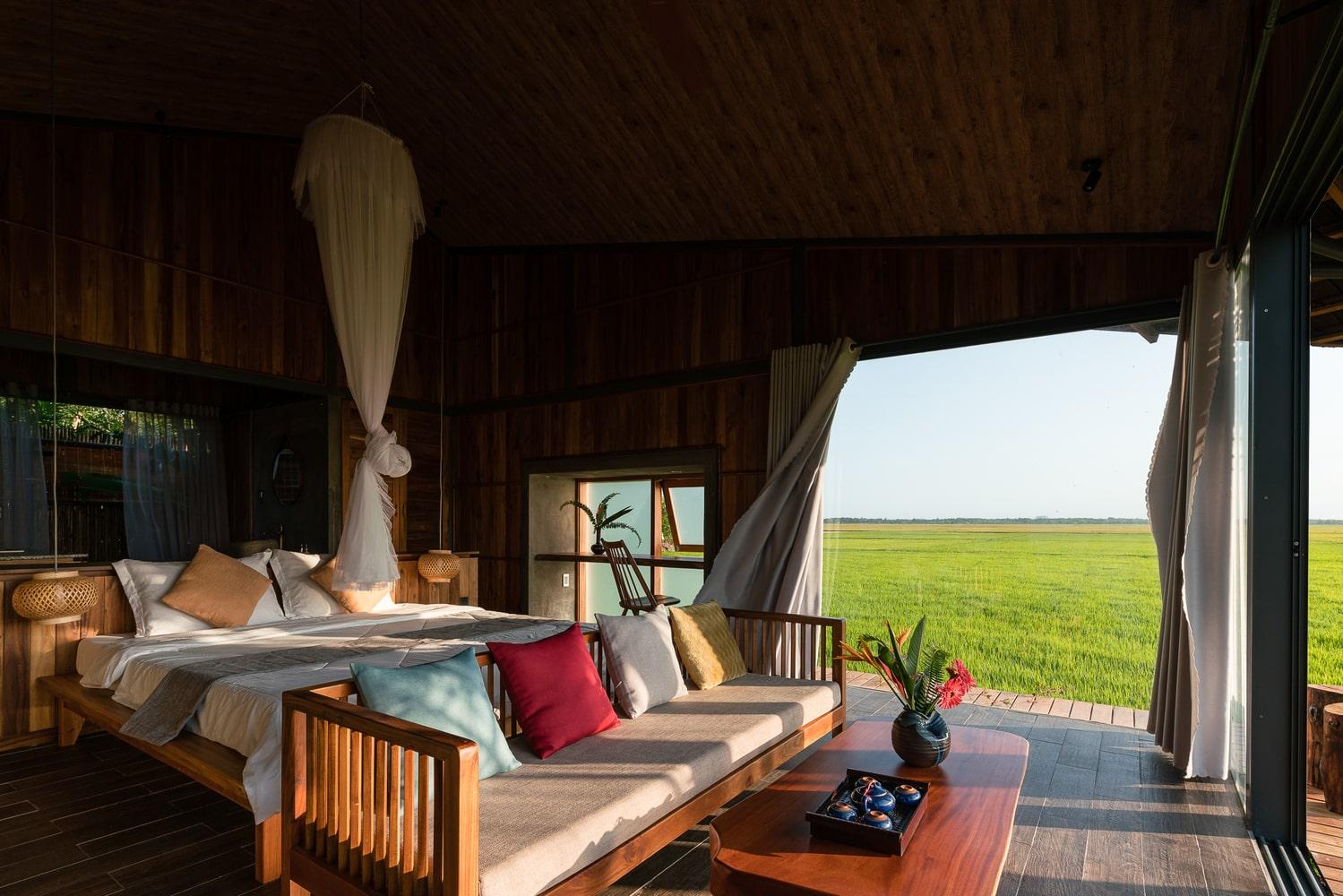 du lịch Hồ Tràm nên ở The Ruộng Resort